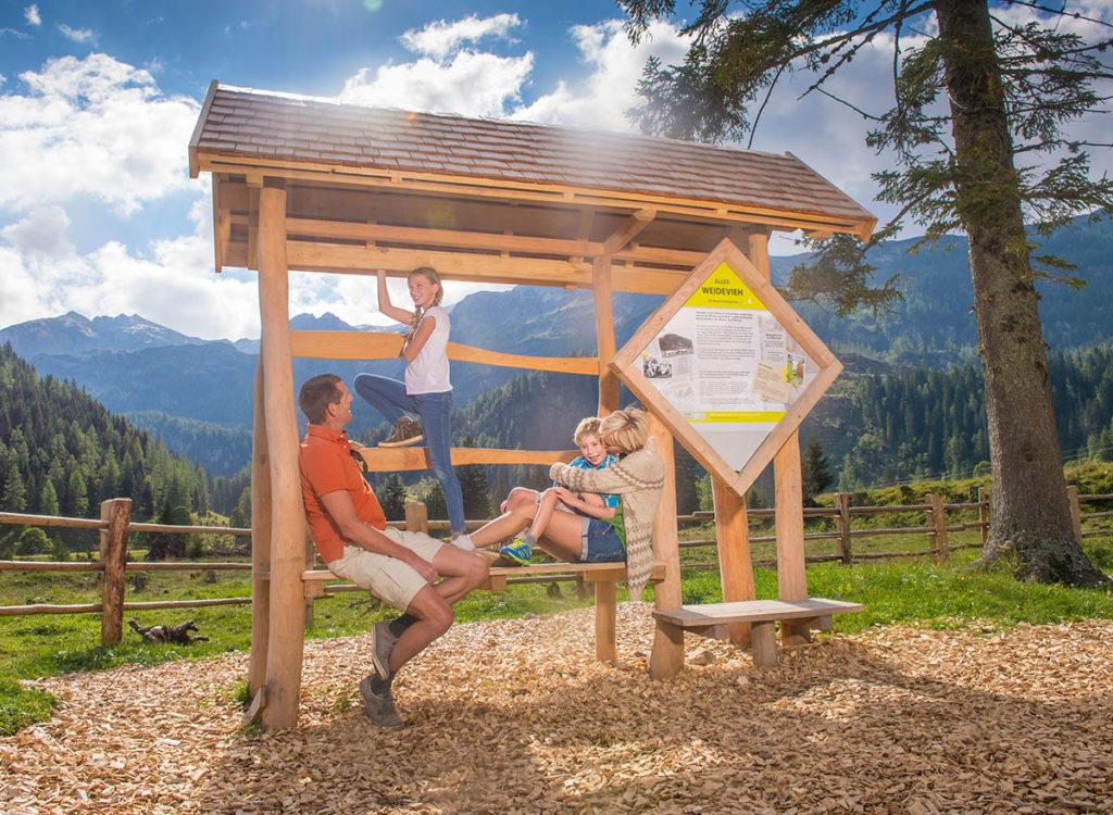 Ausflugsziele im Salzburger Land, Erlebniswanderweg Alles Alm auf der Gnadenalm in Obertauern